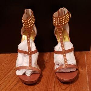 Leather Studded Strap Sandal